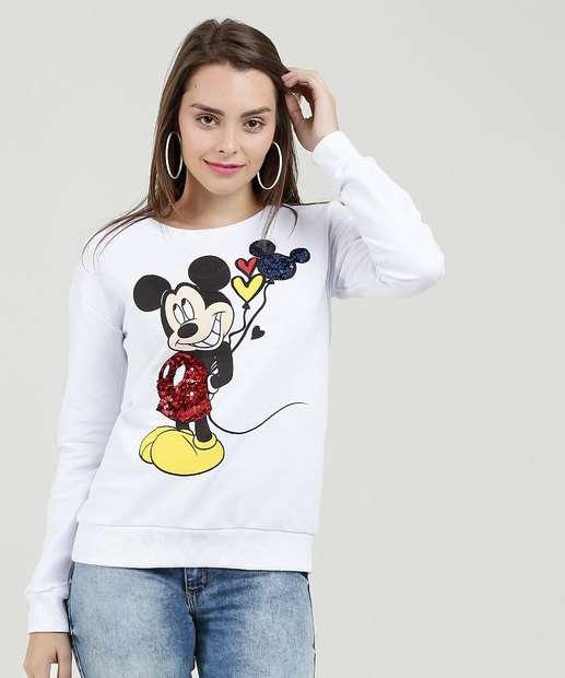Image_Blusão Feminino Moletinho Paetês Estampa Mickey Disney