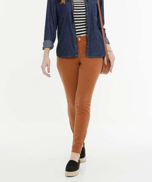 Image_Calça Feminina Sarja Skinny Zune Jeans