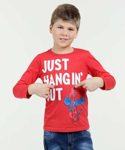 Image_Camiseta Infantil Estampa Homem Aranha Manga Longa Marvel