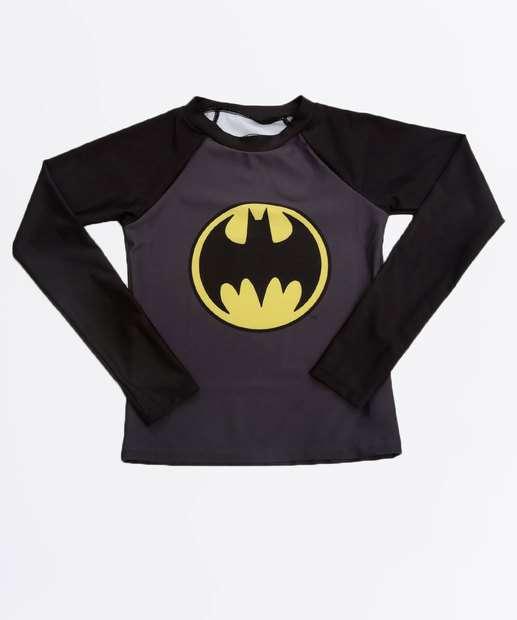 Image_Camiseta Praia Infantil Batman Proteção UV Liga da Justiça