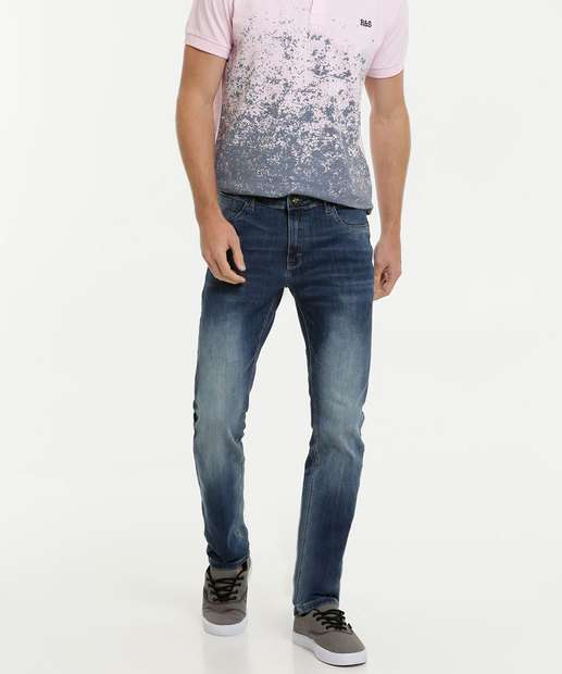 Image_Calça Masculina Jeans Stretch Slim Rock & Soda