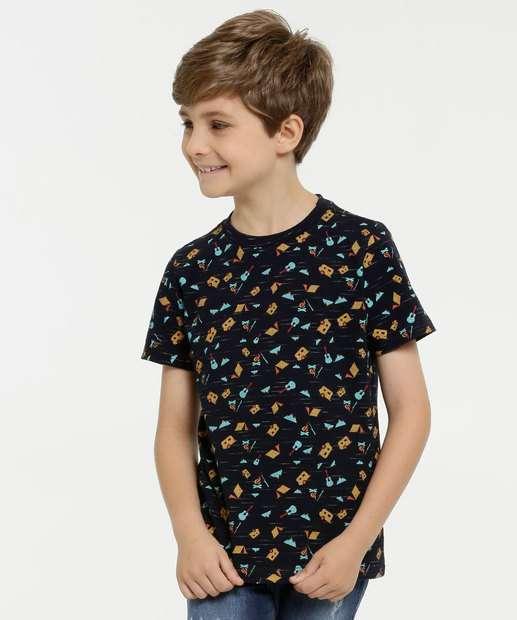 Image_Camiseta Infantil Flamê Estampada Manga Curta MR