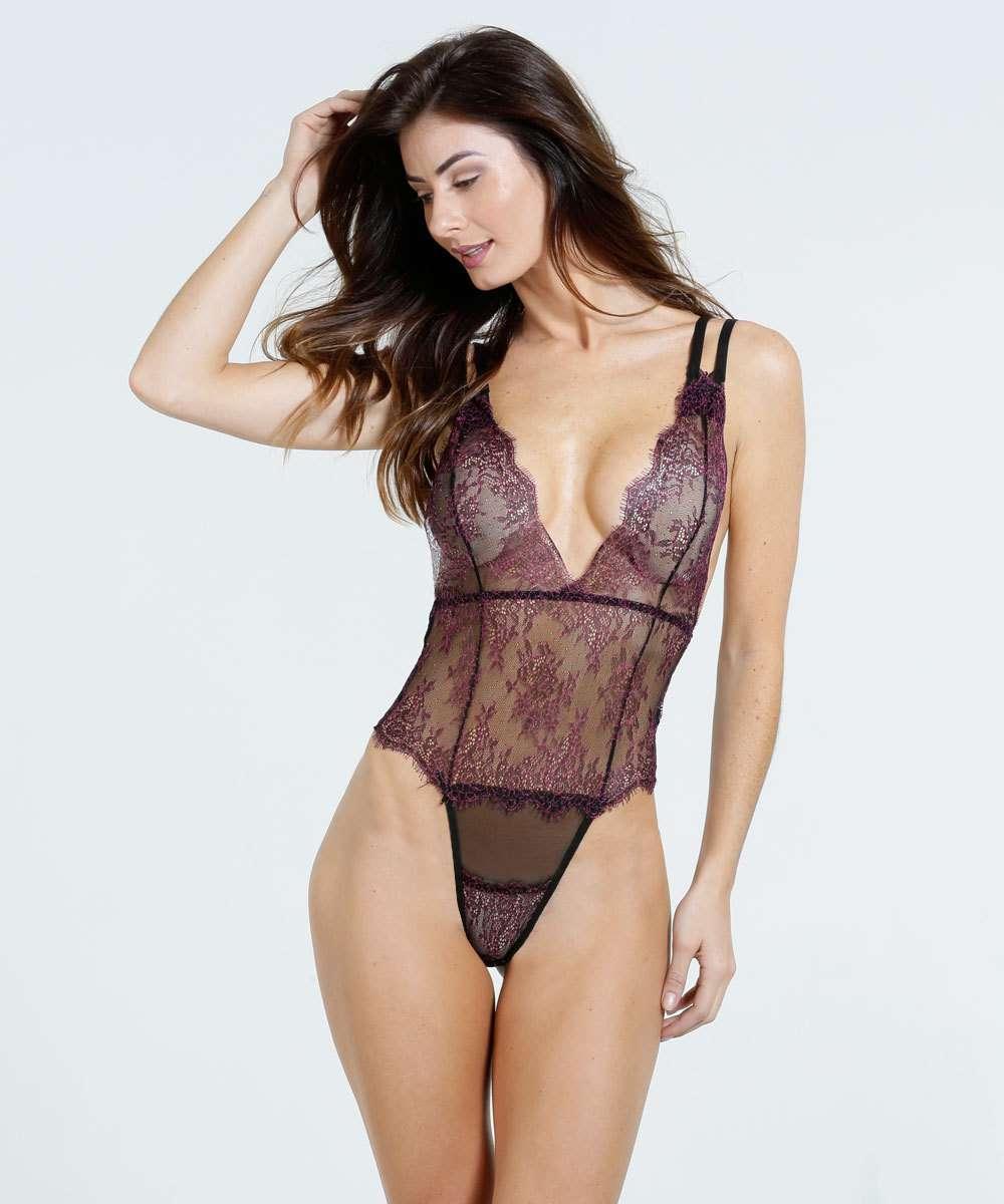 b6c6bac46 Body Feminino Sensual Renda Marisa