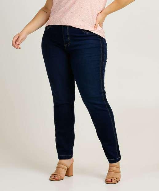 Image_Calça Plus Size Feminina Jeans Cigarrete