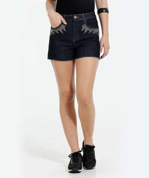 Image_Short Feminino Jeans Strass Marisa