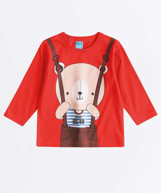 Image_Camiseta Infantil Estampa Frontal Manga Longa