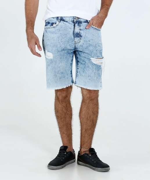 Image_Bermuda Masculina Jeans Puídos Marisa