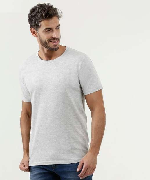 aa6e3341b Camiseta Masculina Básica Manga Curta