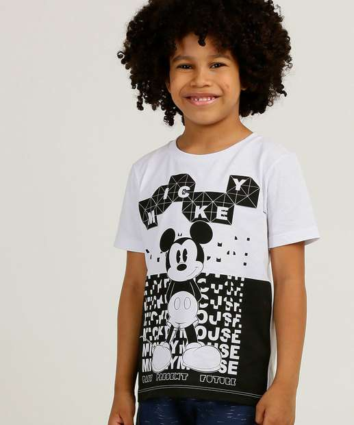 Image_Camiseta Infantil Manga Curta Estampa Mickey Disney Tam 4 a 10
