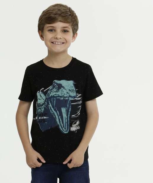 Image_Camiseta Infantil Jurassic World Manga Curta Universal