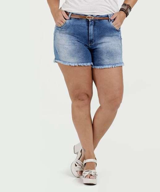 Image_Short Feminino Jeans Barra Desfiada Plus Size Razon