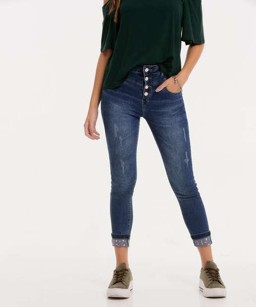 Image_Calça Skinny Feminina Botões Zune Jeans