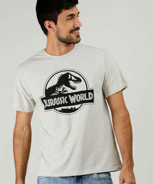 Image_Camiseta Masculina Estampa Jurassic Park Manga Curta Univesal