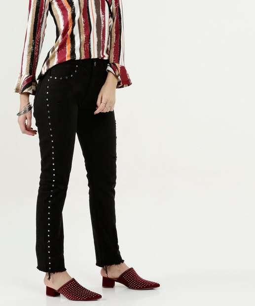Image_Calça Feminina Boot Cut Desfiada Five Jeans
