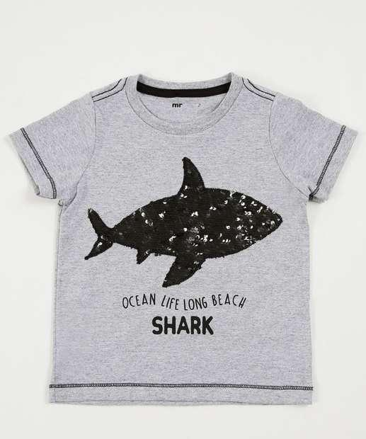 Image_Camiseta Infantil Tubarão Paetês Manga Curta Marisa