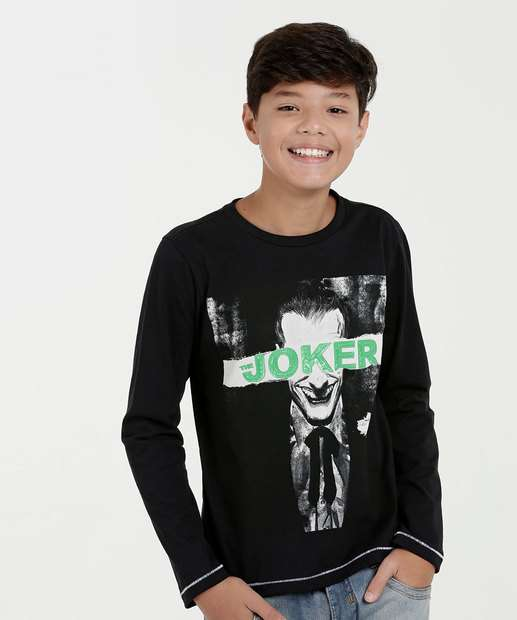 Image_Camiseta Juvenil Estampa Coringa Liga da Justiça