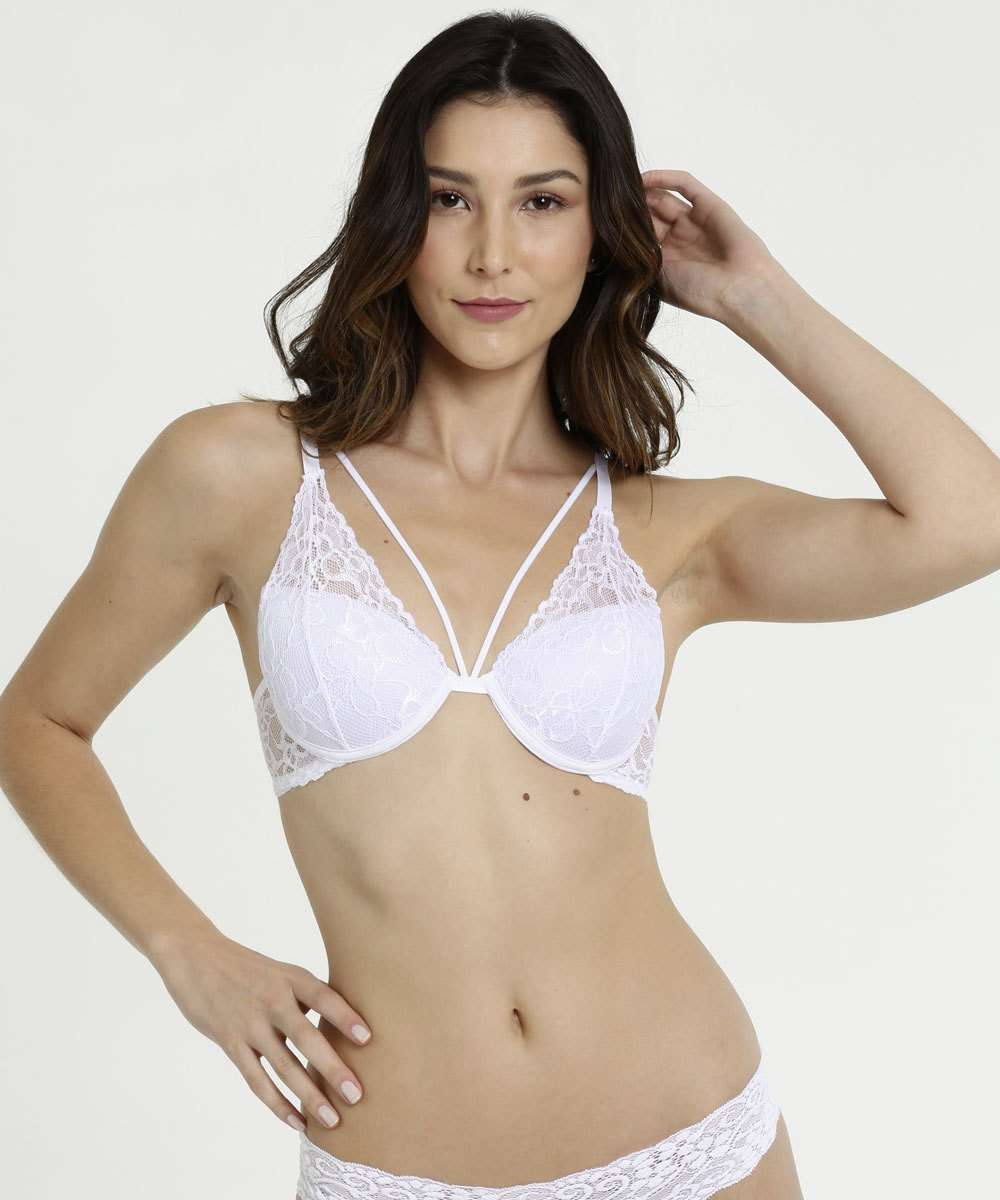 Sutiã Feminino Push Up Strappy Renda Marisa