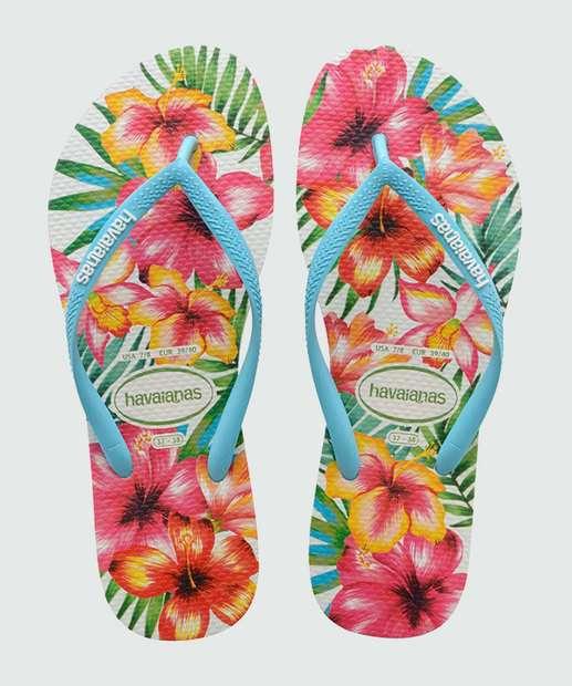 Image_Chinelo Havaianas Feminino Estampado Slim Hibisco