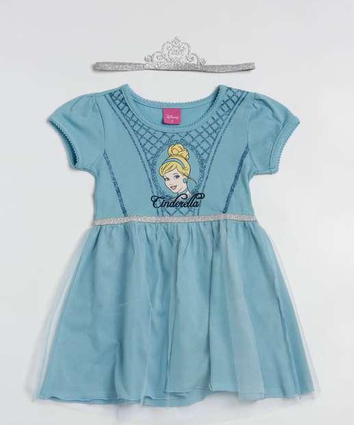 Image_Vestido Infantil Cinderela Manga Curta Disney