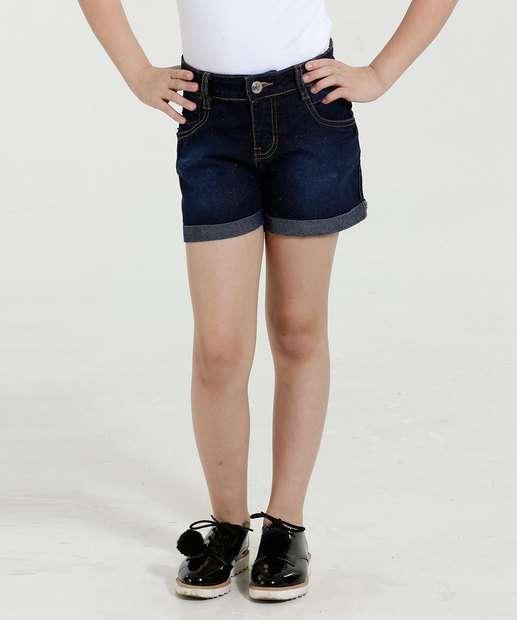 Image_Short Infantil Jeans Brilho Marisa