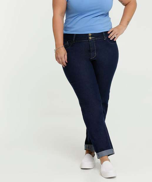 Image_Calça Feminina Jeans Stretch Reta Plus Size Marisa