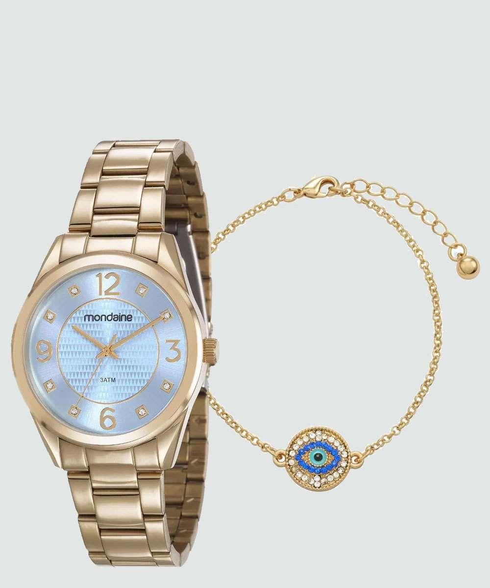 Kit Relógio Feminino Mondaine 83385LPMVDE2KB