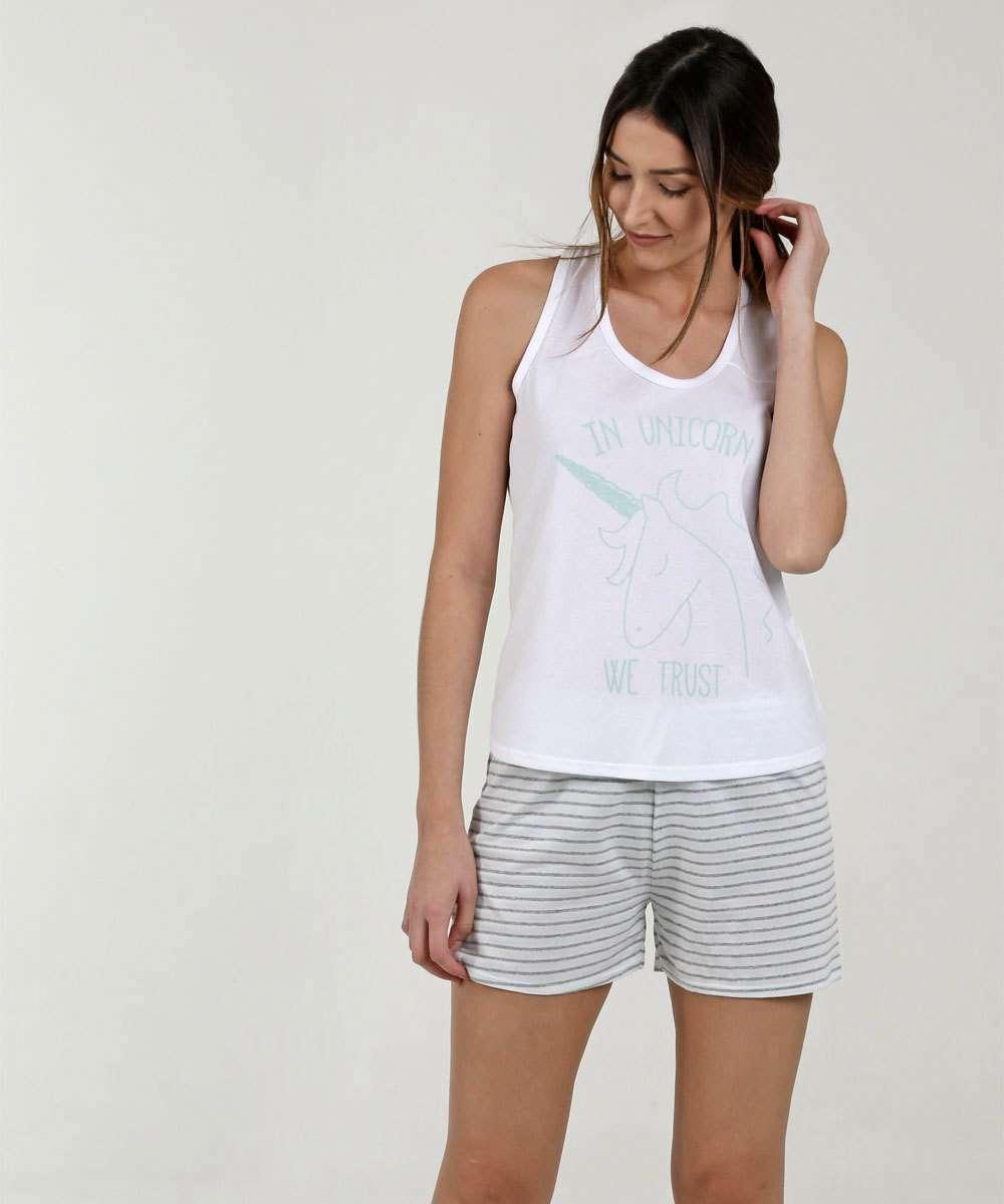 Pijama Feminino Estampa Unicórnio Marisa