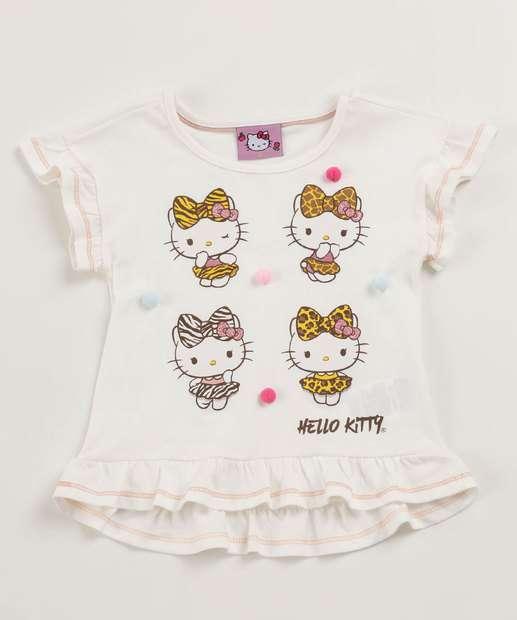Image_Blusa Infantil Estampa Hello Kitty Babados Manga Curta Sanrio