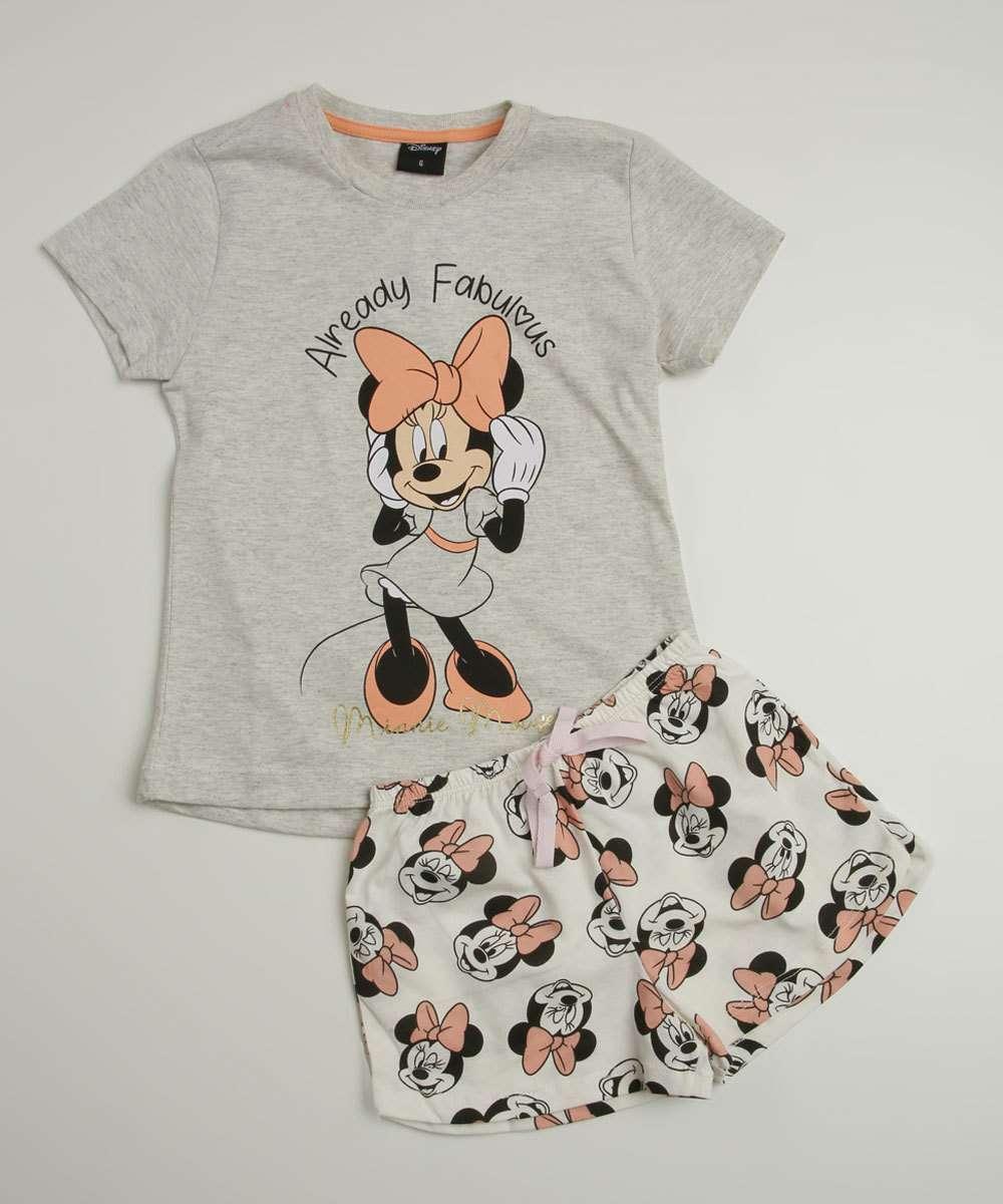 Pijama Infantil Estampa Minnie Disney Tam 4 a 10
