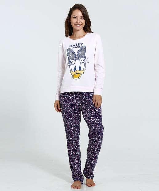 Image_ Pijama Feminino Estampa Margarida Glitter Disney