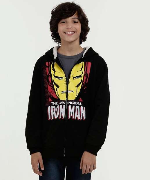 Image_Casaco Juvenil Capuz Estampa Homem de Ferro Marvel