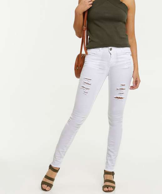 Image_Calça Feminina Sarja Destroyed Skinny Uber Jeans