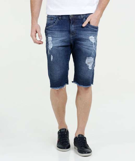 Image_Bermuda Masculina Jeans Puídos Razon