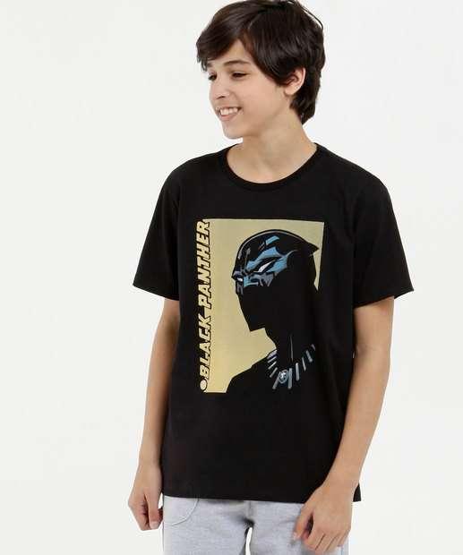Image_Camiseta Juvenil Estampa Pantera Negra Manga Curta Marvel