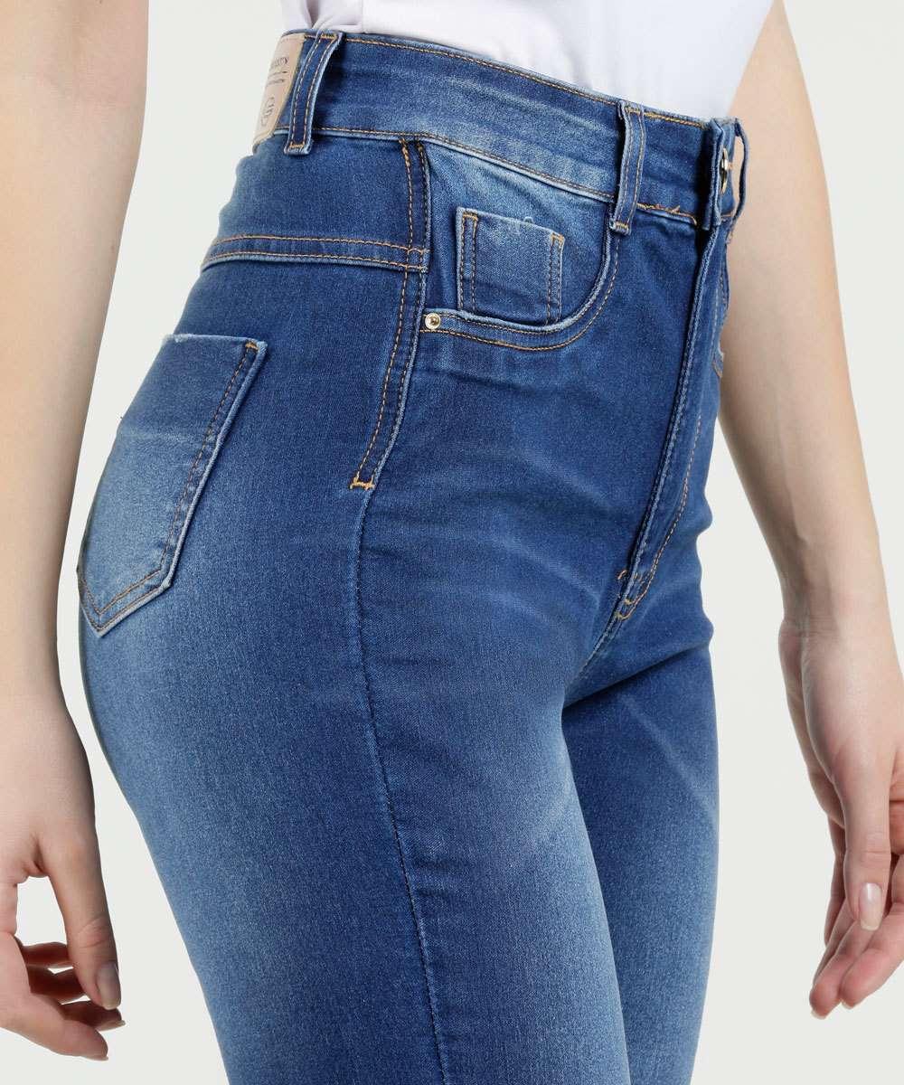 1e0d4d0a8 Calça Feminina Jeans Skinny Super Lipo Modeladora Sawary