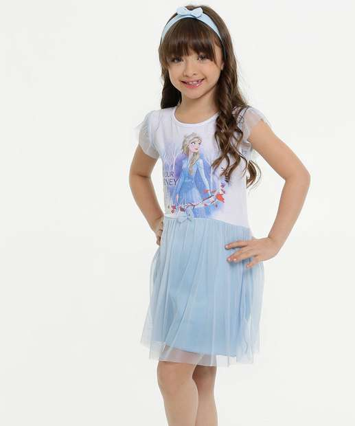 Image_Vestido Infantil Princesa Elsa Frozen Brinde Disney