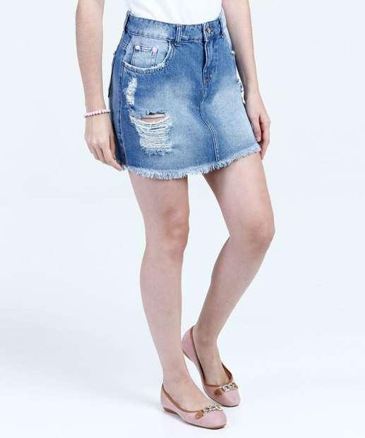 Image_Saia Juvenil Jeans Destroyed Marisa