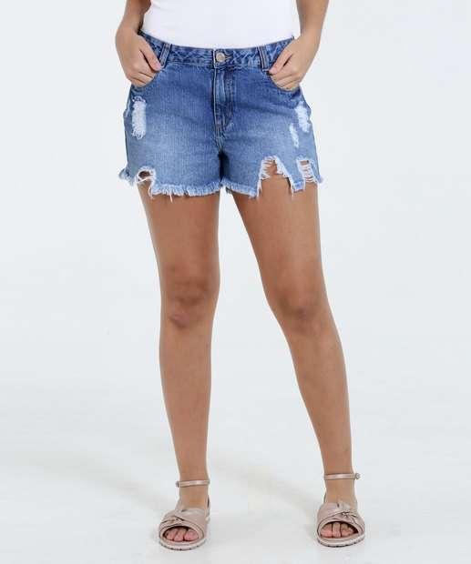 Image_Short Feminino Jeans Hot Pants Destroyed Marisa