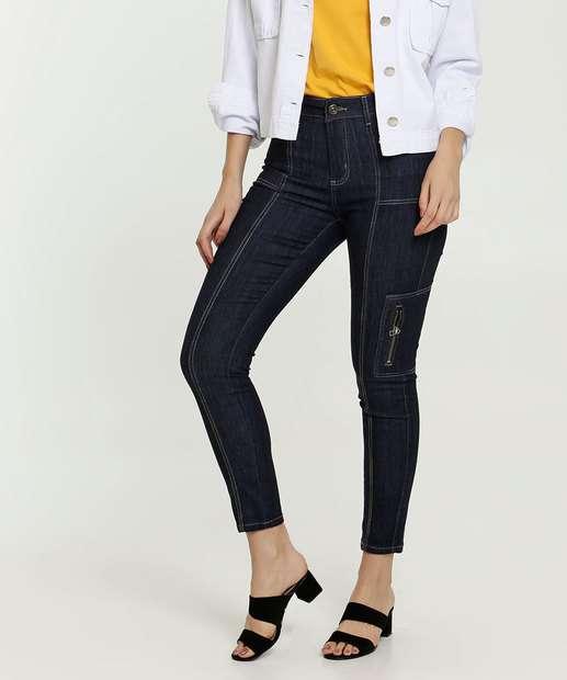 Image_Calça Jeans Cargo Skinny Feminina Sawary