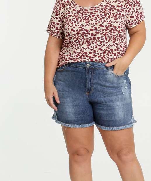 Image_Bermuda Plus Size Feminina Jeans Puídos Bolsos Marisa