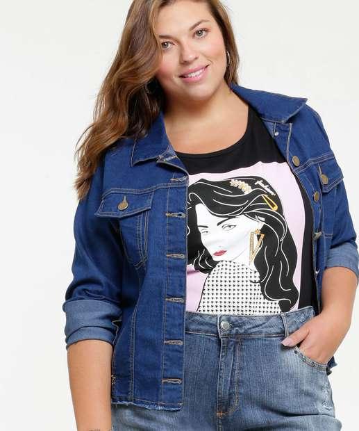 Image_Jaqueta Feminina Jeans Bolsos Plus Size Marisa