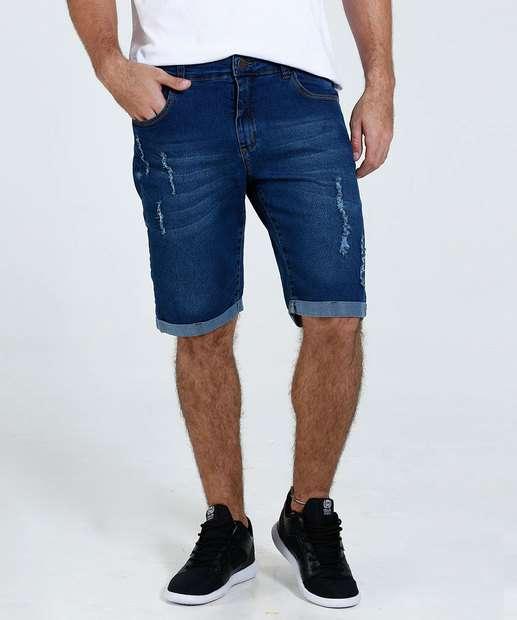 Image_Bermuda Masculina Slim Jeans Puídos Marisa